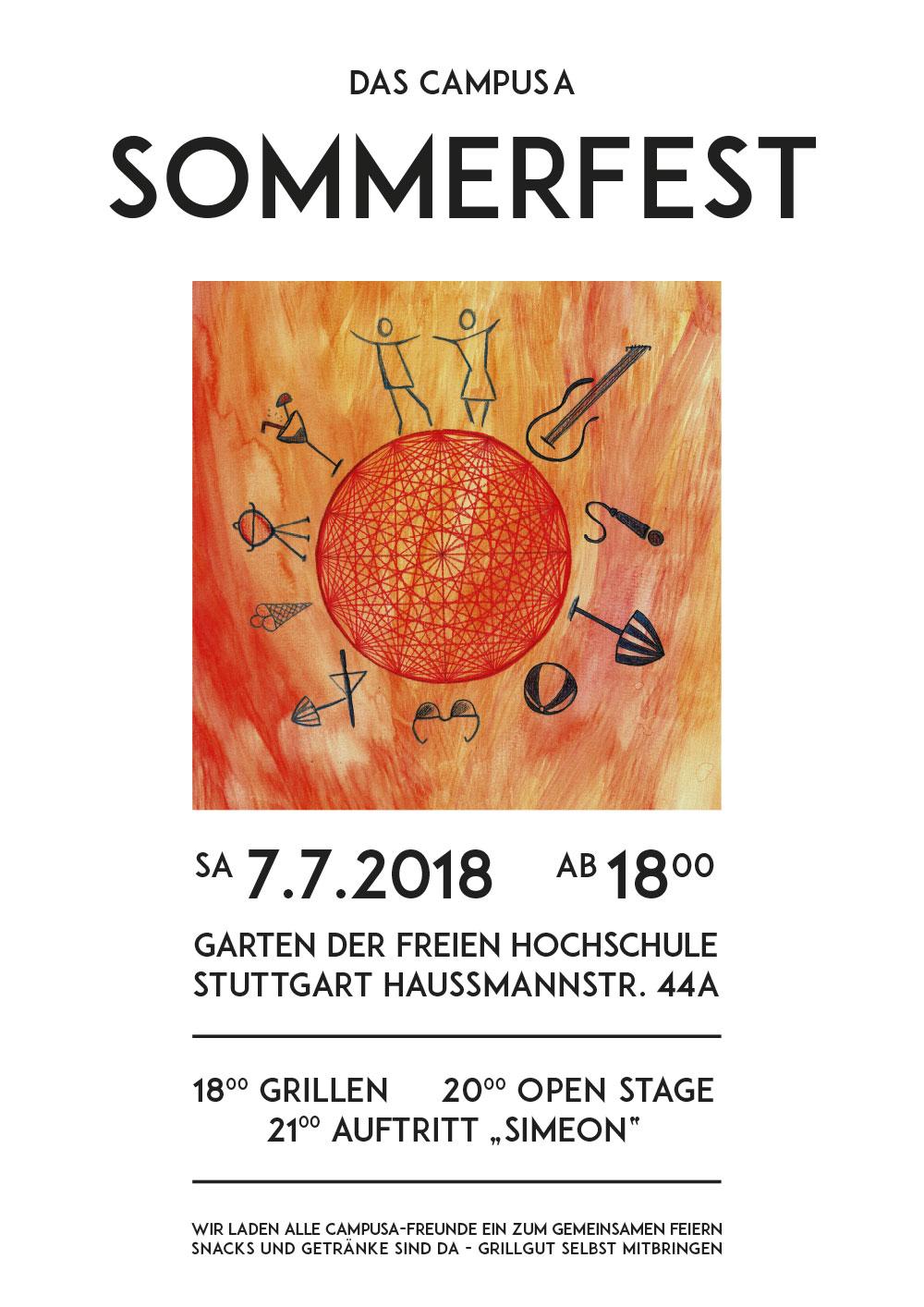 Einladung zum campusA-Sommerfest am 7.7.
