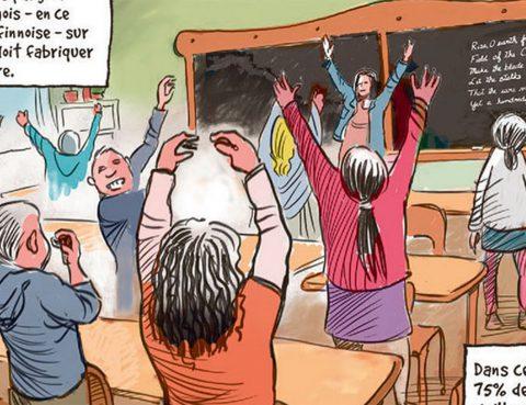 Hightech trifft Waldorf - Kurz-Comic der Waldorfschule für die Digital-Prominez im Silicon-Valley