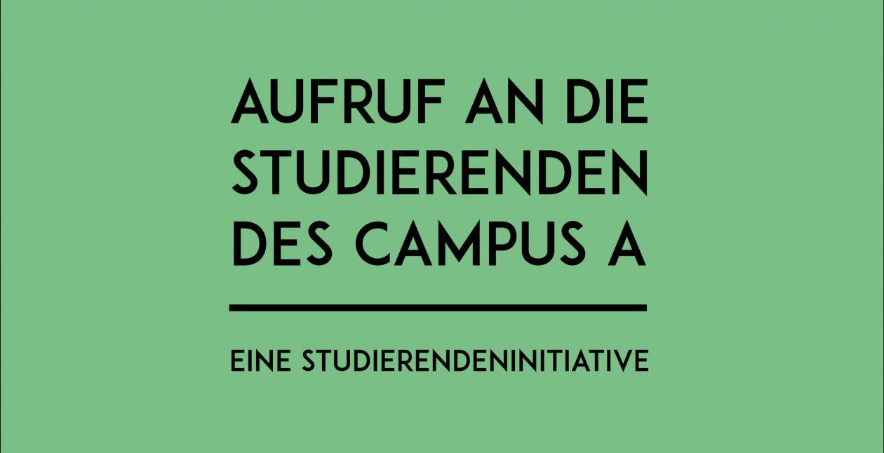 Ein Aufruf von Justyna Salwierak an die Studierenden des campusA